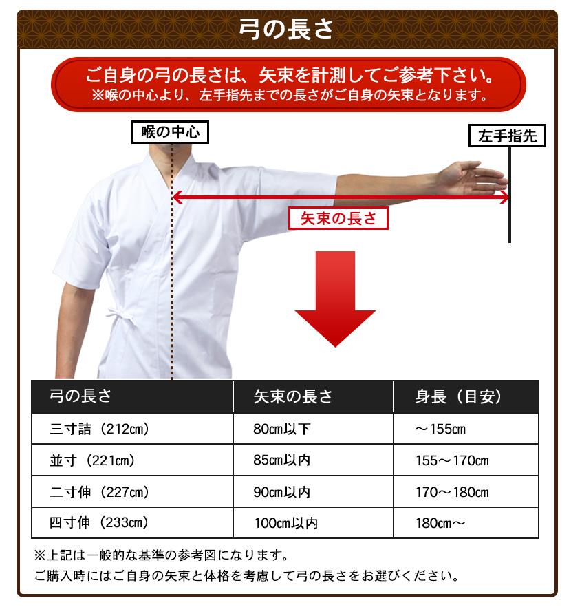 弓の長さ測り方